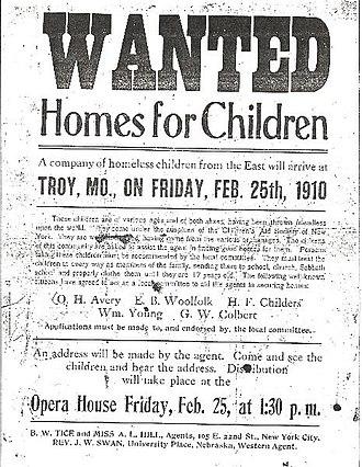 Orphan Train - Orphan train flyer