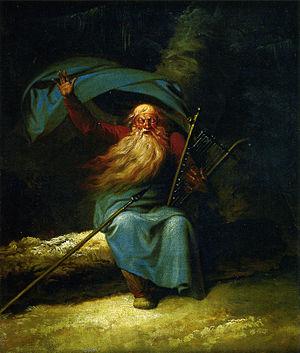Ossian - Ossian Singing, Nicolai Abildgaard, 1787