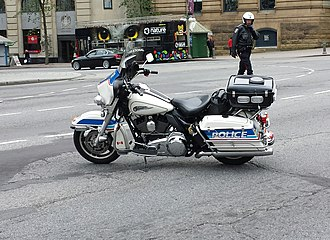 Ottawa Police Service - Harley Davidson police package motorcycle