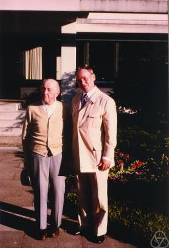 Eduard Stiefel - Eduard Stiefel (right) together with Otto Volk in Oberwolfach, 1978