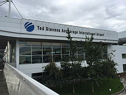Outside Anchorage Airport South Terminal, Aug 2016
