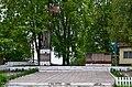 Ozero Kivertsivskyi Volynska-monument to the countryman-general view.jpg