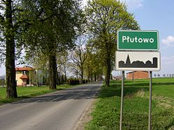 Skyline of Płutowo