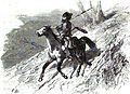 P.B. Tchetchense se rendant a une embuscade. Floriant Gille. Lettres sur le Caucase et la Crimée. 1859. P.139.jpg