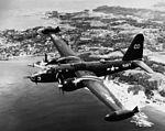 P2V-5 VP-1 in flight over Japan 1952.JPG