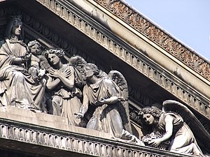 Charles-François Lebœuf - Pediment sculpture, 1830, Notre-Dame-de-Lorette