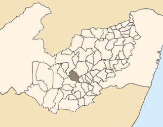 Capoeiras - Location of Capoeiras within Pernambuco.