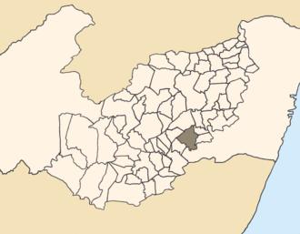 Panelas - Location of Panelas within Pernambuco.