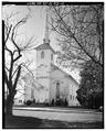 PERSPECTIVE VIEW LOOKING SOUTHWEST - West Creek United Methodist Church, Church Street, West Creek, Ocean County, NJ HABS NJ,5-CREKW,1-1.tif