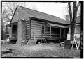 PERSPECTIVE VIEW OF SOUTH (REAR) AND WEST SIDE - Kolb House, Powder Springs Road, Kennesaw, Cobb County, GA HABS GA,34-KENN,1A-19.tif