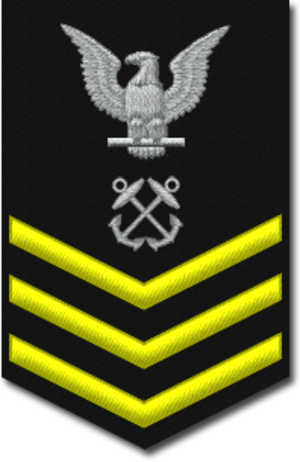 Petty officer first class - E-6 insignia