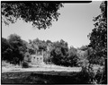 POOL HOUSE, LOOKING NORTH, MAIN HOUSE IN DISTANCE - Woodhills, Prospect Road, Cupertino, Santa Clara County, CA HABS CAL,43-CUP,1-10.tif