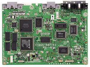 PlayStation technical specifications - An SCPH-5001 motherboard.