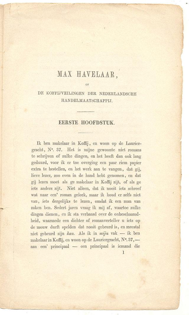 Uitgeefgeschiedenis Van Max Havelaar Wikiwand