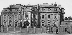 Palais Lanckoroński - Palais Lanckoroński as seen from the street in 1895.