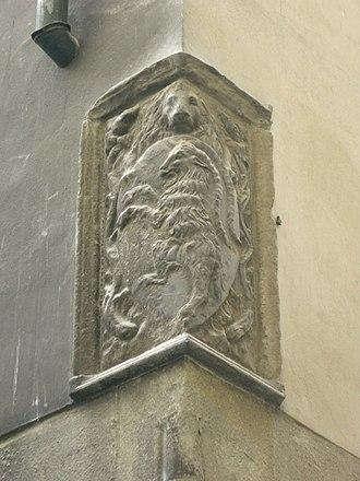 Palazzo dell'Arte dei Beccai - Image: Palazzo arte beccai, stemma retro