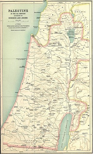 Palestine according to Eusebius and Jerome, by George Adam Smith, 1915 - History of Palestine