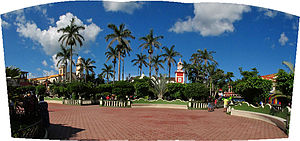 Santiago Tuxtla - Panorama of the main plaza