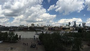 Tate Modern - Panoramic view from Tate Modern balcony