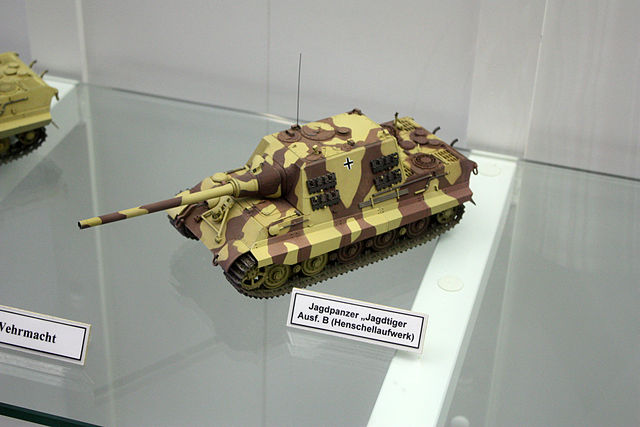 Jagdtiger model at Munster Museum