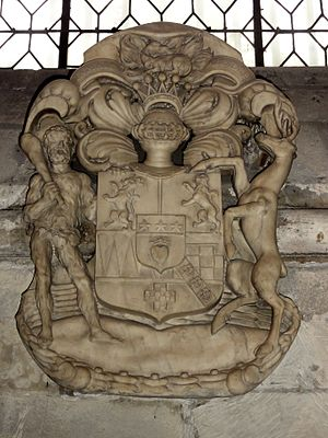 Lord James Douglas - Coat of arms of James Douglas, Abbey of Saint-Germain-des-Prés