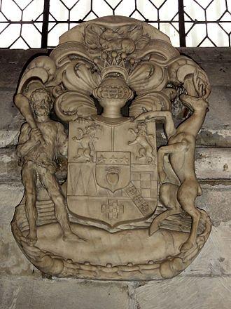 Lord James Douglas - Coat of arms of James Douglas, Abbey of Saint-Germain-des-Prés