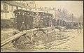 Paris - La Grande Crue de la Seine (anvier 1910) - Retablissement de la Circulation par Passerelles au Quai de Passy inonde - ND Phot.jpg