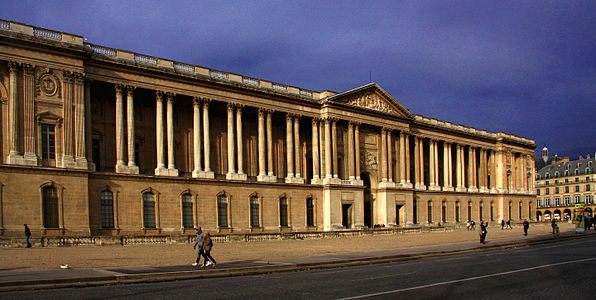 The Colonnade On The East Facade Of The Louvre 1667 68 By Louis Le Vau Charles Le Brun Francois Dorbay And Claude Perrault Was In The Grand Cl Ical