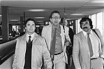 Parlementaire delegatie op Schiphol terug uit Latijns- Amerika. Drs. H. Aarts, d, Bestanddeelnr 932-1130.jpg