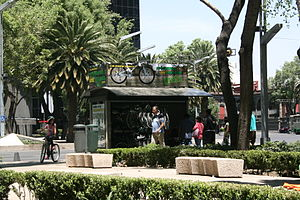 Paseo de la Reforma avenue. Mexico City.
