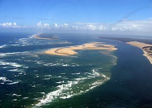 Arcachon Bay - Arcachon Bay and the Great Dune of Pyla (on the right).