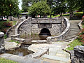 Patriots Park Tarrytown NY water basin and stone bridge.jpg