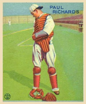 Paul Richards (baseball) - Richards as an active catcher.