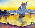 Paul Signac - The Port at Sunset. Saint-Tropez. Opus 236. 1892 (масло, холст)..jpg