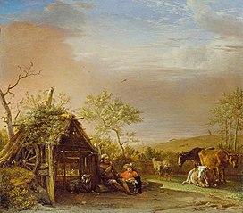 Herdsmen with Their Cattle