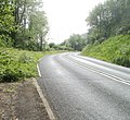 Pavement ends at a bend in the road, Old Furnace - geograph.org.uk - 2427895.jpg
