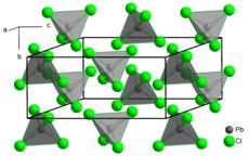 Kristallstruktur Elementarzelle von PbCl4 bei 150 K