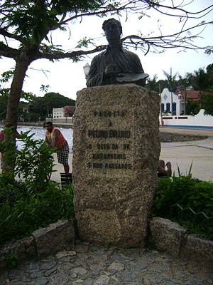 Pedro Paulo Bruno - Statue of Pedro Bruno at Paquetá Island.
