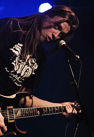 12 Gauge (Kalmah album) - Pekka Kokko performing in Helsinki, Finland on March 6, 2010.