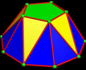Cupola (geometry) - Pentagonal cupola