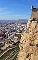 Penya-segat i garita del castell de santa Bàrbara, Alacant.JPG