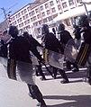 People's Armed Police patrolling streets of Labrang, Tibet during Losar, 2009 武警在藏歷新年期間在拉卜楞巡邏.jpg