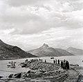 People go ashore at the new pier at Rørstad.jpg
