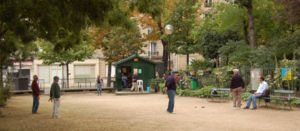 Batignolles - Pétanque, the outdoor bowling-game, as played in Batignolles
