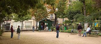 Batignolles - Pétanque, the outdoor bowling-game, as played in Batignolles