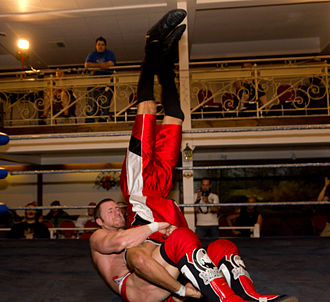 Piledriver (professional wrestling) - Petey Williams performing the Canadian Destroyer on Brent B