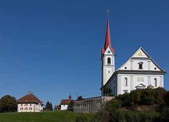 Pfaffnau - Image: Pfaffnau Pfarrhaus Kirche
