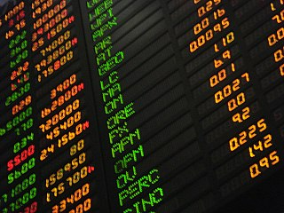 Stock market public entity for the trading of company stocks and shares