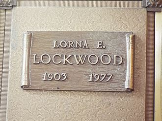 Lorna E. Lockwood - Image: Phoenix Greenwood Memory Lawn Cemetery Lorna E. Lockwwod
