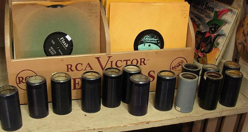 File:PhonographCylinders.JPG